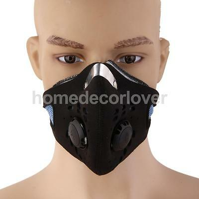 Breathable Anti Dust Motorcycle Bicycle Cycling Ski Half Face Mask Filter