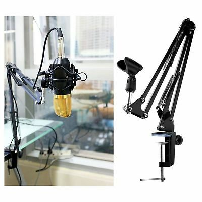 Professional Studio Microphone Black Stand Mic Portable Arm Support High Quality