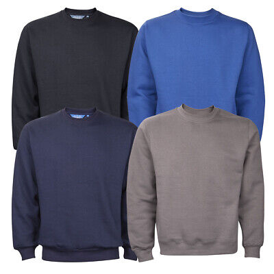 Mens New Plain Crew Neck Sweatshirt Jumper Top Pullover Sweater Long Sleeve