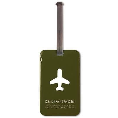 ALife Design Kofferanhänger Happy Flight Square Luggage Tag olive