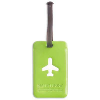 ALife Design Kofferanhänger Happy Flight Square Luggage Tag grün
