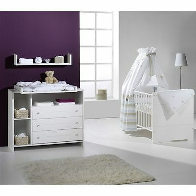 babybett und wickelkommode eur 100 00 picclick de. Black Bedroom Furniture Sets. Home Design Ideas