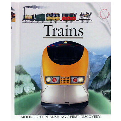 Moonlight Trains Book - Children's First Discovery Acetate Trains Learning Book