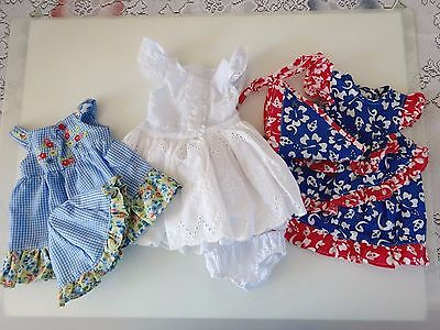 """NEW-DOLL CLOTHES: Summer Dresses fit 18""""Doll such as AG Dolls - Lot #194"""