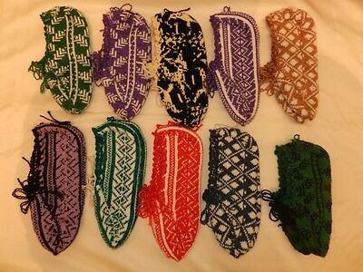 Ten Pairs of Handmade Crochet Adult Booties Slippers