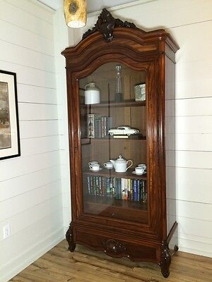 Lovely French Antique Library-Vitrine, Single Door, style Louis XV