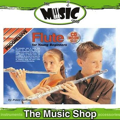 New Progressive Young Beginner Flute Music Book with CD by Peter Gelling