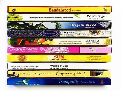 Incense Sticks Kamini Best Sellers Mixed Variety 10 Box Pack Total 80 Sticks