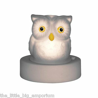 Night Owl Night Light Colour Changing Glow Lamp - Baby Nursery Kids Bedroom -