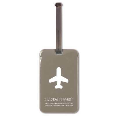 ALife Design Kofferanhänger Happy Flight Square Luggage Tag, grau