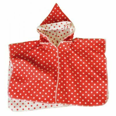 David Fussenegger Kinderponcho Cape rot-weiss, 2-4 Jahre