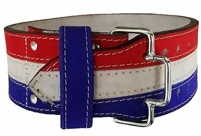 SSS Weightlifting Powerlifting Quick Release PRONG Belt 10cm Red/White/Blue
