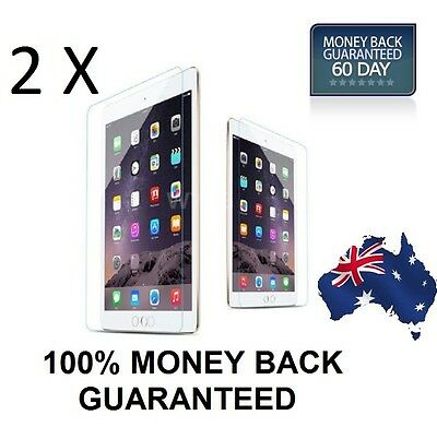 2 X Premium 9H 0.3mm Tempered Glass Screen Film Protector for Apple iPad Air 1 2