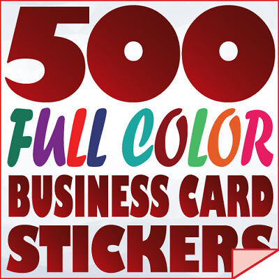 500 Full Color Custom BUSINESS CARD STICKERS Label printing with UV Gloss