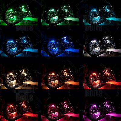 Cruiser 12 Strip LED Kit Wireless Remote Multi Color Light Street Accent Glow