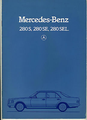 (113Bbis) CATALOGUE MERCEDES BENZ 280S 280SE 280SEL