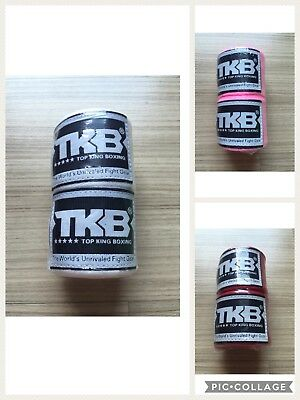 Professional Top King Boxing Muay Thai Hand Wraps Wrist Bands Supports Guard