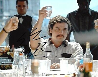 Wagner Moura Signed Narcos Tv Show 8X10 Photo 2 Coa Proof Pablo Escobar Netflix