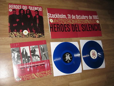 Heroes Del Silencio 2 Lp Stockholm 31/10/1993 Limited Edition Blue Vinyl