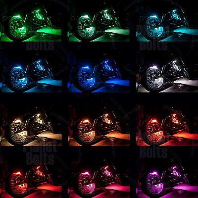 LED Kit Apple iOS Android App Remote Multi Color Light Cruiser Accent Glow Strip