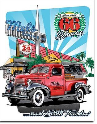 Mel's Diner 65 Years Collectable Tin Metal Signs Combined Postage For 2+