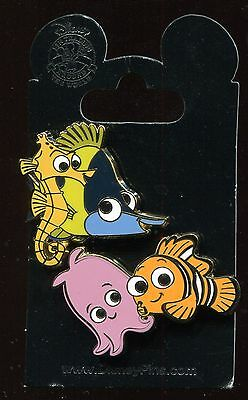 Finding Nemo Gang Tad Sheldon Nemo Pearl 2 Pin Set Disney Pin 108605
