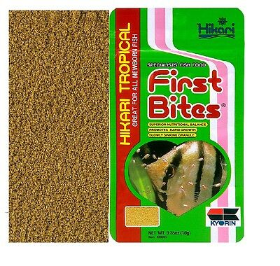 First Bites Baby Fish Food for Tropical Aquarium Newborn Fry Specialist Food 10g
