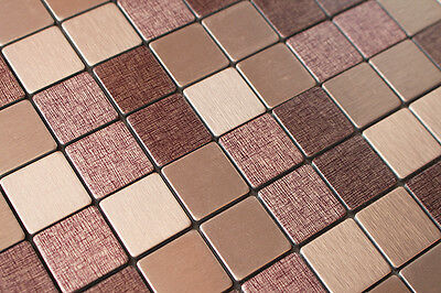 Sample Light Purple&Beige Particle Metal Surface Self Adhesive Mosaic Tile