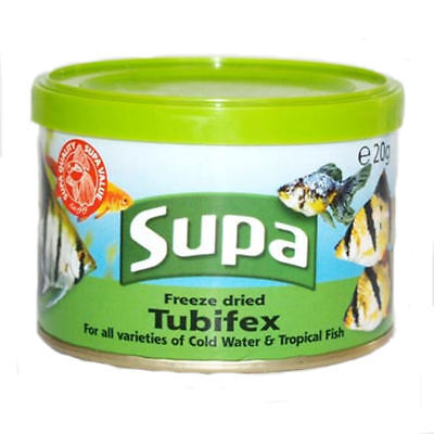 Freeze Dried Tubifex Fish Food for Goldfish Coldwater & Freshwater Tropical 20g