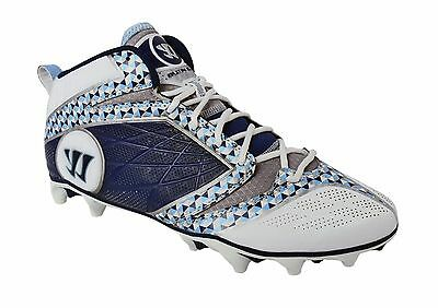 Burn6Bt By Warrior New Adult Mens Lacrosse Blue Gray White Size 12