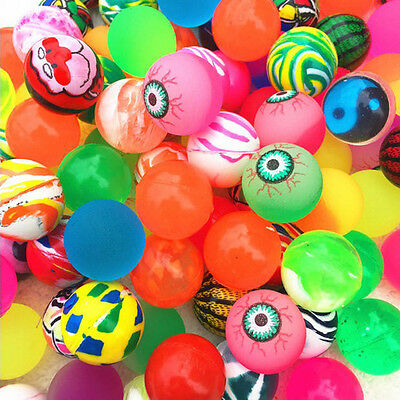 10pcs 27mm Colorful Bouncy Jet Balls Birthday Party Loot Bag Favours Toy Filler