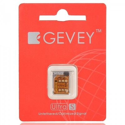 Gevey Ultra Unlock SIM Card with Card Tray Holder for iPhone 4S (US Version)