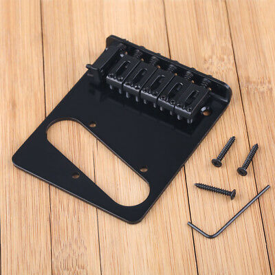 New Black 6 Flate Style Saddle Bridge for Fender Telecaster Tele Guitar Electric