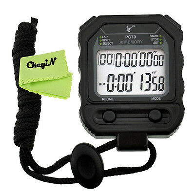 LCD Chronograph 30 Memory Referee Dedicated Track & Field Racing Stopwatch Timer