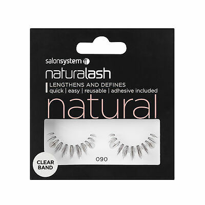 Salon System Naturalash 090 Black (natural) Adhesive Included False Strip Lashes
