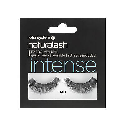 Salon System Naturalash 140 Black (intense) Adhesive Included False Strip Lashes
