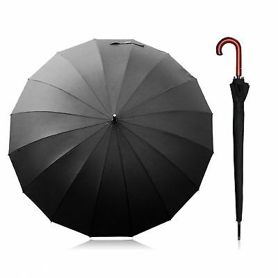 Super Large Umbrella Auto Open Strong Wind Durable Classic Vintage Style