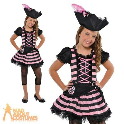 Child Pirate Sweetheart Costume Girls Caribbean Book Week Fancy Dress Outfit New