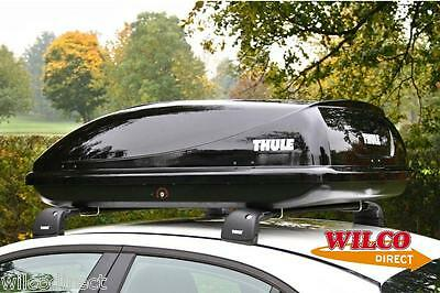 Thule Car Roof Top Box 360 Litre Capacity Gloss Black Universal large Roofbox