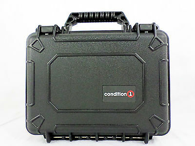 Condition 1 #312 Black Airtight/Watertight Hard Case with Pick -N- Pluck Foam