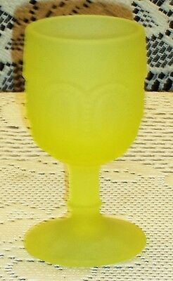 Moon & Star Vaseline Satin Uranium Glass Wine GTC