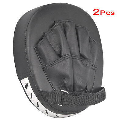 2x focus pads hook mitts boxing gloves sparring punch bag training pair MMA SP