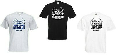 This is What an Awesome Husband Looks Like T Shirt Gift Sizes S - XXL