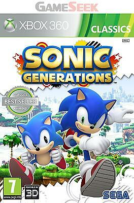 Sonic Generations Classics - Xbox 360 Brand New Free Delivery
