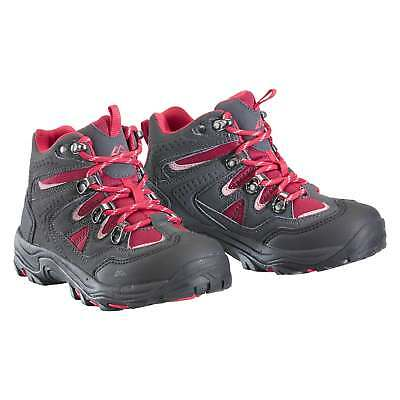 Kathmandu Messey Kids Girls Boys Lace Up Trekking Shoes Mid Hiking Boots Grey