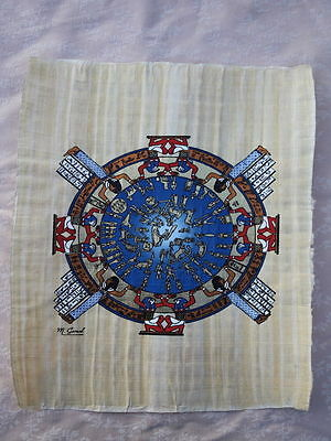 Egyptian Papyrus Painting Astrological Calendar hand made in Egypt