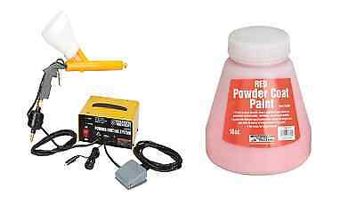 10-30 PSI 120 Volt Powder Coating System Auto Home Shop & Free Red Paint Color