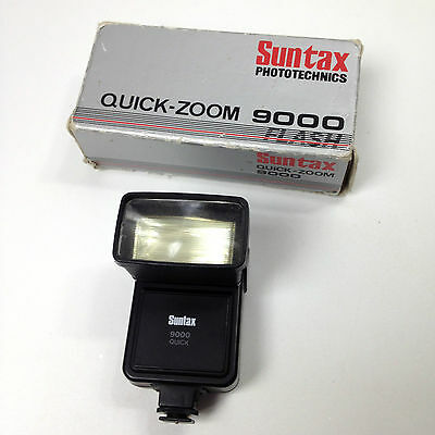 Vintage SUNTAX PHOTOTECHNICS Quick-Zoom 9000 FLASH