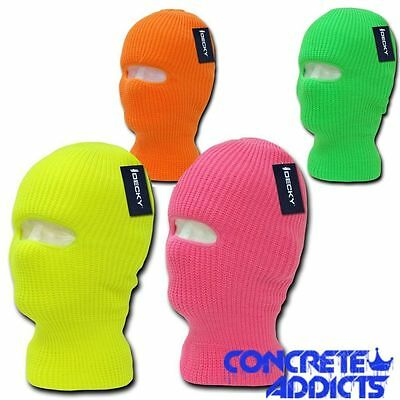 Decky Ski Face Mask Beanie Neon Fluorescent Youth Winter Boys Girls Kids Child