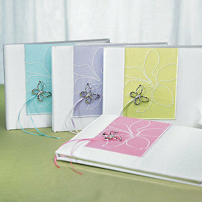 Butterfly Dreams Traditional Wedding Guest Book Green Weddingstar